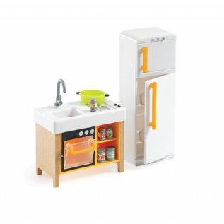 Djeco Djeco poppenhuis inrichting Compacte keuken DJ07833