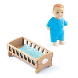 Djeco Djeco poppenhuispop babykamer, baby Sascha