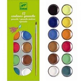Djeco Djeco waterverfset met 12 kleuren