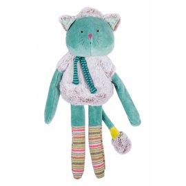 Moulin Roty Moulin Roty knuffel blauwe kat