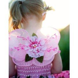 Great Pretenders Great Pretenders roze vleugels met bloem