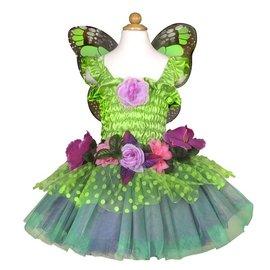 Great Pretenders Great Pretenders groene feeënjurk met bloemen en vleugels (3-4 jaar)