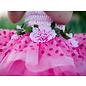 Great Pretenders Great Pretenders roze feeënjurk met bloemen, vleugels en een hoofdbandje
