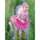 Great Pretenders Great Pretenders roze feeënjurk met bloemen, vleugels en een hoofdbandje (5-6 jaar)