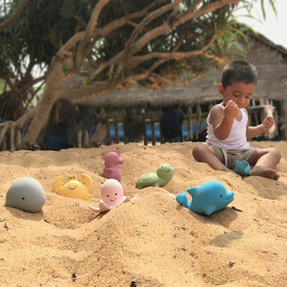 Tikiri Tikiri bijt- en badspeelgoed zeepaardje