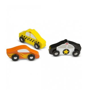 Melissa & Doug Melissa and Doug Houten auto's in kist (9-delig)