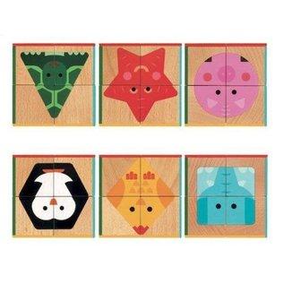 Djeco Djeco houten blokpuzzel Cubabasic DJ06208
