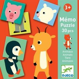 Djeco Djeco memorie puzzel Dieren