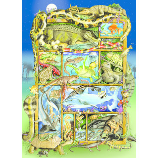 Cobble Hill Cobble Hill puzzel - Reptiles and amphibians 350 stukjes