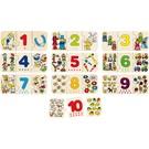 Goki Goki houten puzzel 'tellen en matchen'