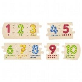 Goki Goki houten puzzel getallen 1-10