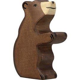 Holztiger Holztiger bruine beer zittend