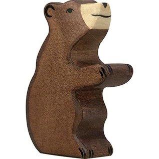 Holztiger Holztiger bruine beer zittend 80186