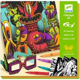 Djeco Djeco 3D kleuren - Funny Freaks