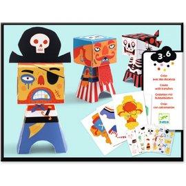 Djeco Djeco Knutselpakket wrijfplaatjes - Piraten