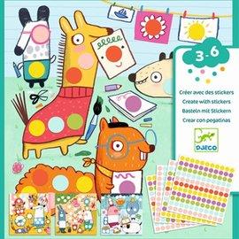 Djeco Djeco Knutselset - Creëren met stickers - Dieren