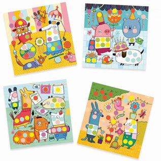 Djeco Djeco Knutselset - Creëren met stickers - Dieren  DJ09044