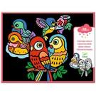 Djeco Djeco Fluwelen kleurplaten - Baby vogeltjes
