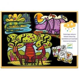 Djeco Djeco Fluwelen kleurplaten - Savanne