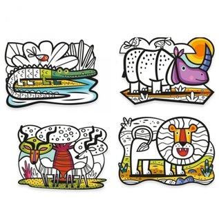 Djeco Djeco Fluwelen kleurplaten - Savanne  DJ09622