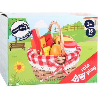 Small Foot Picknickmand met snijvoedsel