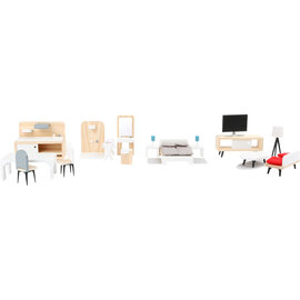 Small Foot Complete set poppenhuis meubeltjes