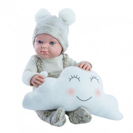 Paola Reina Paola Reina Pop Mini Pikolines jongen met wolk (32cm)