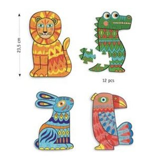 Djeco Djeco knutselset Puzzels maken - Animocolour DJ07946