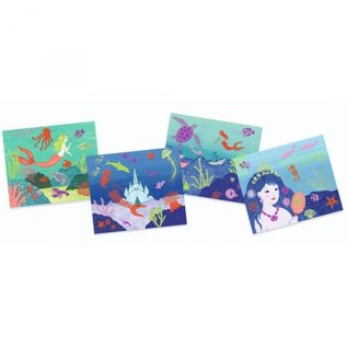 Djeco Djeco knutselset metallic folie - oceaan DJ09466
