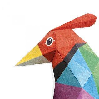Djeco Djeco 3D poster vouwen - Vogel DJ09448