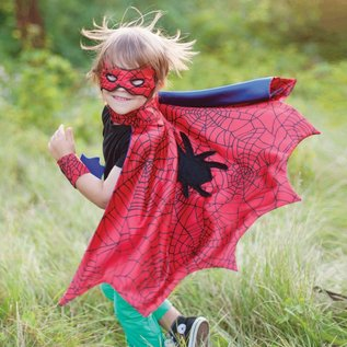 Great Pretenders Great Pretenders Spiderman cape set (cape, masker, armbanden) 3-4 jaar 53272