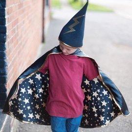 Great Pretenders Great Pretenders tweezijdige tovenaarscape met hoed (4-6 jaar)