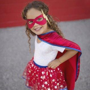 Great Pretenders Great Pretenders Superhero girls set (masker, cape en tutu) (4-7 jaar) 67675