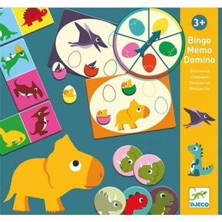 Djeco Djeco Dino bingo, memorie, domino 3 in 1 DJ08132