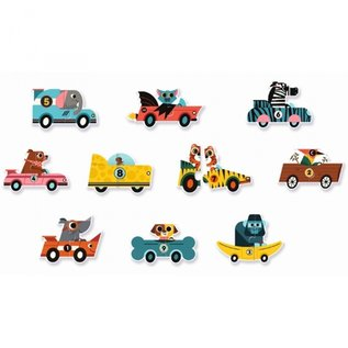 Djeco Djeco Duo Puzzels - Racewagens DJ08148