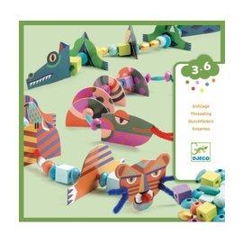 Djeco Djeco knutselset - Wilde dieren rijgen