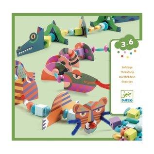 Djeco Djeco knutselset - Wilde dieren rijgen DJ08978