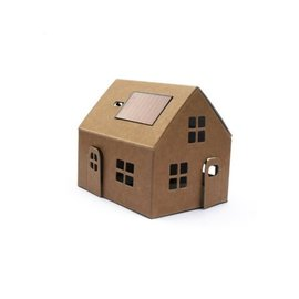 Litogami Litogami bouwpakket huisje met zonnepaneel - Kraft