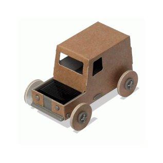 Litogami Litogami bouwpakket Auto reversible met zonnepaneel - Wit en Kraft