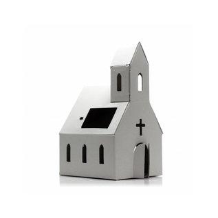 Litogami Litogami bouwpakket Kerk met zonnepaneel - Wit