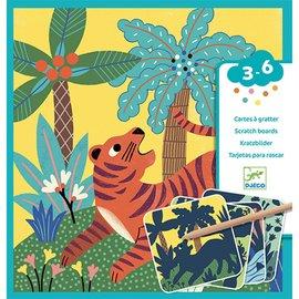 Djeco Djeco kraskaarten - Jungle dieren