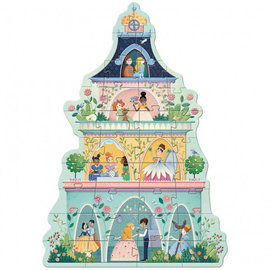 Djeco Djeco Vloerpuzzel - Prinsessen toren - 36 stukjes