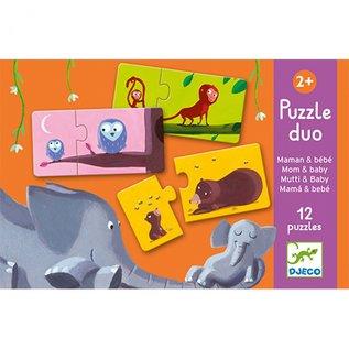 Djeco Djeco Duo puzzel - Mama en baby DJ08157