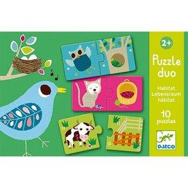 Djeco Djeco Duo puzzel - Habitat
