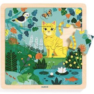 Djeco Djeco Houten puzzel - Lily - 16 stukjes DJ01819