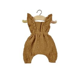 Minikane Minikane jumpsuit Maya geborduurd camel