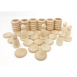 Grapat Grapat Nins® ringen en muntjes 60-delig