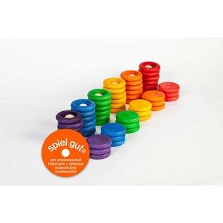Grapat Grapat Nins® ringen en muntjes gekleurd 60-delig  15-102