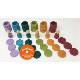 Grapat Grapat Nins® ringen en muntjes herfstkleuren  60-delig 15-102B