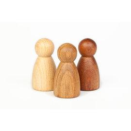 Grapat Grapat Set van 3 houtkleurige Nins®